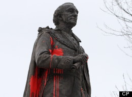 Police in Ontario are investigating after a Sir John A. MacDonald statue was vandalized overnight, saying it may have been politically motivated. (CP)