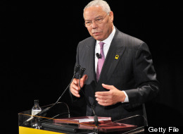 Former Secretary of State Colin Powell speaks at the International Rescue Committee's Annual Freedom Award benefit at the Waldorf Astoria Hotel on November 9, 2011 in New York City. (Photo by Stephen Lovekin/Getty Images for IRC)