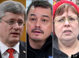 Prime Minister Stephen Harper, National Chief Shawn Atleo and Attawapiskat Chief Theresa Spence. Over the past few days, as Atleo has been buffeted by harsh division among chiefs, protesters in the streets and a hunger protest with no obvious resolution, there were 'fleeting