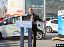 The provincial government announced $1.3 million will be spent to set up fast-charging electric car stations in 12 B.C. communities. (Flickr: B.C. Gov)