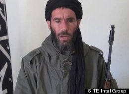 This image from video provided by the SITE Intel Group made available Thursday Jan. 17, 2013, purports to show militant militia leader Moktar Belmoktar. (SITE Intel Group)