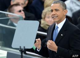 Barack Obama lors de son discours inaugural