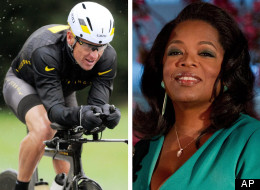 This combination image made of file photos shows Lance Armstrong, left, on Oct. 7, 2012, and Oprah Winfrey, right, on March 9, 2012. Winfrey told an Edmonton crowd she believes Lance Armstrong has the opportunity to be a hero again.  And she thinks people will be willing to forgive him.  (AP Photos/File)