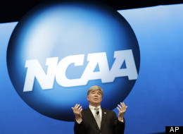 NCAA President Mark Emmert speaks at the organization's annual convention, Thursday, Jan. 17, 2013, in Grapevine, Texas. (AP Photo/LM Otero)