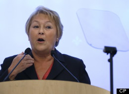 Quebec Premier Pauline Marois gives a speech to the Canadian-UK Chamber of Commerce in London, Monday, Jan. 28, 2013. (AP Photo/Kirsty Wigglesworth)