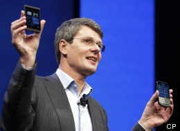The long-awaited BlackBerry Z10 will hit Canadian stores on Feb. 5, and will be available for $149 with a three-year contract, the company formerly known as RIM announced Tuesday. (AP Photo/Mark Lennihan)