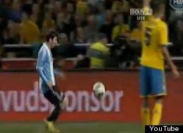Lionel Messi no anotó en el partido entre Argentina y Suecia