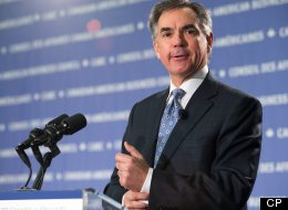 Former cabinet minister Jim Prentice says that Canada has Canada has been complacent when it comes to making the most of its resource wealth. Here, Prentice is pictured at the CABC (Canadian American Business Council) in Ottawa Canada November 19 2012  (CP/ Jake Wright)