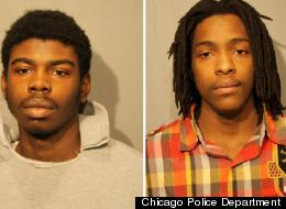 Michael Ward (left) and Kenneth Williams were charged Monday in the Jan. 29 shooting death of 15-year-old Hadiya Pendleton. They were ordered held without bail Tuesday morning.