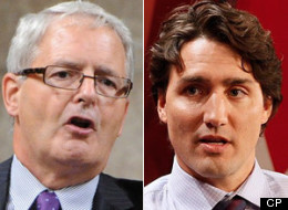 Marc Garneau has launched a direct attack on Liberal leadership front-runner Justin Trudeau. (CP)