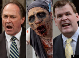 Pat Martin and John Baird traded barbs over the zombie apocalypse in question period on Parliament Hill on Wednesday. (CP)