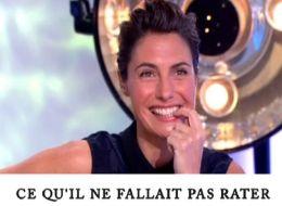 Alessandra Sublet sur le plateau de C à vous le 1 février 2013 (capture d'écran)