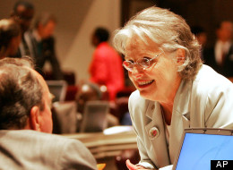 Albama State Rep. Mary Sue McClurkin (R) believes that babies are organs in women's bodies. (AP Photo/Jamie Martin)