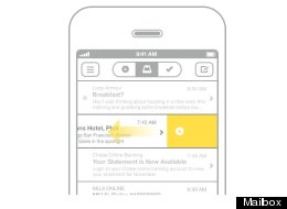 The Mailbox app lets you swipe left to