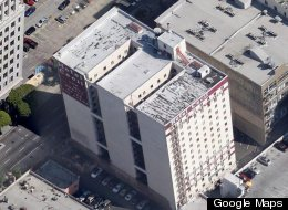 The body of Elisa Lam, 21, was found in a water tank on top of the Cecil Hotel in Los Angeles on Tuesday. (Google Maps)